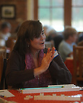 Anne Ferguson plays in Tin Pann Alley's 2nd annual Mahjongg Tournament in Taylor, Miss. on Monday, November 15, 2010.