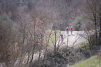 Team Trek-Segafredo during the 2017 Strade Bianche recon (the day before the race)