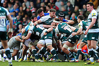 Mike Fitzgerald of Leicester Tigers in action at a maul. Aviva Premiership match, between Leicester Tigers and Saracens on March 20, 2016 at Welford Road in Leicester, England. Photo by: Patrick Khachfe / JMP