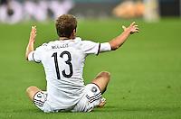 FUSSBALL WM 2014                ACHTELFINALE Deutschland - Algerien               30.06.2014 Thomas Mueller (Deutschland) enttaeuscht am Boden