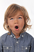 Expressive portrait of a Young Boy Stock photo