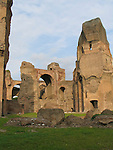 The ruins of the caracalla Therms in Rome