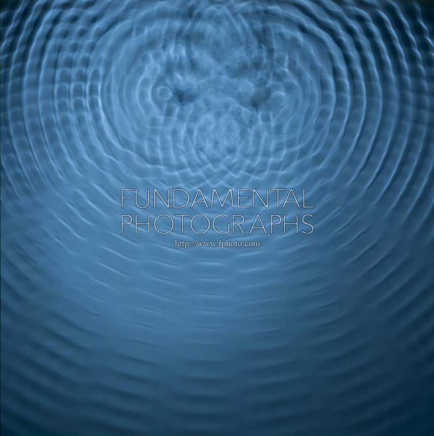 INTERFERENCE PATTERNS OF TWO POINT SOURCES<br /> Two Sets of Concentric Waves In A Ripple Tank<br /> Constructive interference occurs when crests meet crests or troughs meet troughs, forming an anti-nodal line.  Destructive interference occurs when crests meet troughs, forming a nodal line.