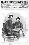 President Abe Lincoln &amp; son Todd on the cover of Harper's following his assassination, after a photo by Brady Harper's Weekly, Sat May 6, 1865.