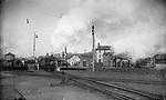 The New York & New England train in Waterbury, circa 1888.