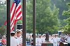 June 5, 2015; Flag raising ceremony at Pasquerilla Center. (Photo by Matt Cashore/University of Notre Dame)