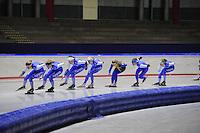 SCHAATSEN: IJSSTADION THIALF: 04-07-2013, Training zomerijs, ©foto Martin de Jong
