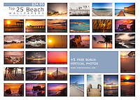 Beach / Travel Desktop Wallpaper with 25 popular beach photos from my collection + 5 bonus photos. <br />