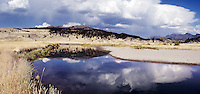 Slough Creek reflections of stormy sky, Yellowstone National Park