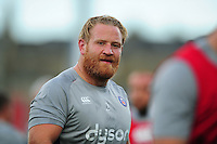 Ross Batty of Bath Rugby looks on during the pre-match warm-up. Pre-season friendly match, between Leinster Rugby and Bath Rugby on August 26, 2016 at Donnybrook Stadium in Dublin, Republic of Ireland. Photo by: Patrick Khachfe / Onside Images