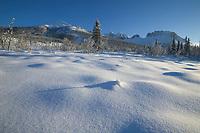 Winter landscape of Mt Snowden of the Brooks range mountains, Arctic, Alaska