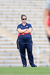 16 November 2013: Liberty head coach Jessica Hain. The University of North Carolina Tar Heels hosted the Liberty University Flames at Fetzer Field in Chapel Hill, NC in a 2013 NCAA Division I Women's Soccer Tournament First Round match. North Carolina won the game 4-0.