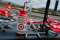 20-21 Febuary, 2012 Birmingham, Alabama USA.Scott Dixon drink bottle in Target Chip Ganassi Racing pit.(c)2012 Scott LePage  LAT Photo USA
