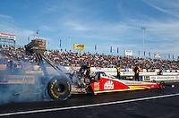 Jun 10, 2016; Englishtown, NJ, USA; NHRA top fuel driver Doug Kalitta during qualifying for the Summernationals at Old Bridge Township Raceway Park. Mandatory Credit: Mark J. Rebilas-USA TODAY Sports
