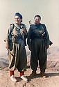 Iraq 1997 .Left, Dilpak Tahir with Nasrin Hama Lao on Safin mountain in Robia.Irak 1997 .A gauche, Dilpak Tahir avec Nasrin Hama Lao sur le mont Safin a Robia