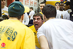 WOLCOTT, CT- 08 MARCH 07- 030807JT04-<br /> Holy Cross' Joe Bocci screams as he lifts 450 lbs while teammates Dan Lucia, left, and Mike Philbin cheer him on during the squat event in the NVL weightlifting championships at Wolcott on Saturday. <br /> Josalee Thrift / Republican-American
