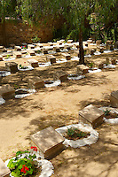 British War Graves of Soldiers who died when a troop ship was sunk.  Ermoupolis, Syros Island [ ????? ] , Greek Cyclades Islands