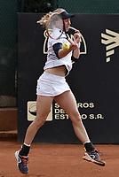 BOGOTA -COLOMBIA. 14-04-2017. Johanna Larsson (SWE) durante juego de semifinal contra Francesca Schiavone (ITA) del Claro Open Colsanitas WTA 2017 jugado en el Club Los Lagartos en Bogota. /  Johanna Larsson (SWE) during match against Francesca Schiavone (ITA) for the semifinal of Claro Open Colsanitas WTA 2017 played at Club Los Lagartos in Bogota city. Photo: VizzorImage/ Gabriel Aponte / Staff
