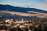 The downtown area of the Missoula, Montana valley