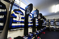 A general view of the Bath Rugby changing rooms. Aviva Premiership match, between Bath Rugby and Newcastle Falcons on September 10, 2016 at the Recreation Ground in Bath, England. Photo by: Patrick Khachfe / Onside Images