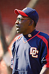 11 April 2006: Mitchell Page, hitting coach for the Washington Nationals, prior to the Nationals' Home Opener against the New York Mets in Washington, DC. The Mets defeated the Nationals 7-1 to start the 2006 season at RFK Stadium...Mandatory Photo Credit: Ed Wolfstein Photo..