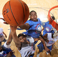 C/F JaMychal Green (Montgomery, AL / St. Jude) gets the rebound during the NBA Top 100 Camp held Friday June 22, 2007 at the John Paul Jones arena in Charlottesville, Va. (Photo/Andrew Shurtleff)