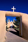 Morning light on San Francisco de Asis Mission Church, Rancho de Taos, New Mexico USA