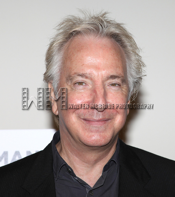 Alan Rickman.attending the New Broadway Production 'Seminar' Meet & Greet at the Foxwoods Rehearsal Studioa in New York City.