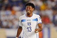 Carlo Costly (13) of Honduras reacts to being injured. Jamaica defeated Honduras 1-0 during a CONCACAF Gold Cup group stage match at Red Bull Arena in Harrison, NJ, on June 13, 2011.