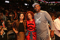 BROOKLYN, NEW YORK - JULY 21, 2016 Demi Lovato, Amber Sabathia & CC Sabathia atend the Roc Nation Summer Classic Charity Basketball Game July 21, 2016 at The Barclays Center in Brooklyn, New York. Photo Credit: Walik Goshorn / Media Punch