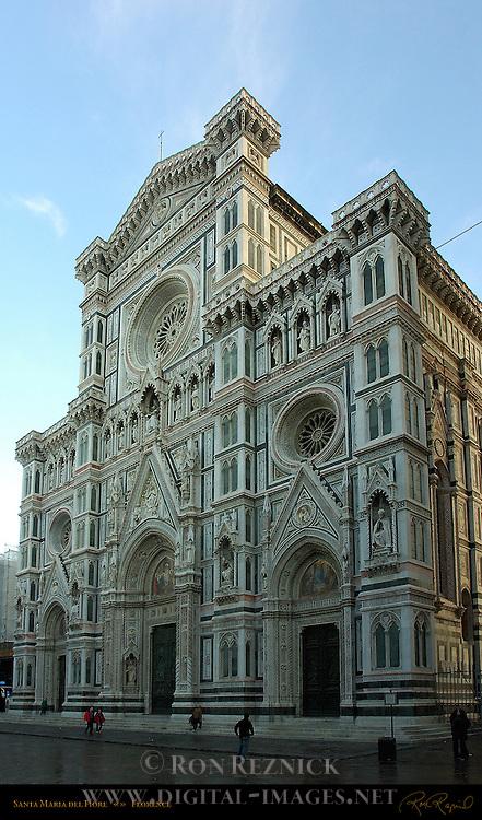 Duomo Facade at Sunrise Santa Maria del Fiore Florence