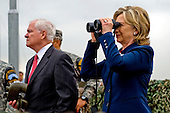 United States Secretary of State Hillary Rodham Clinton and U.S. Secretary of Defense Robert M. Gates look out over North Korea from Observation Point Ouellette during a tour the Demilitarized Zone (DMZ) in Korea, Wednesday, July 21, 2010.  .Mandatory Credit: Cherie Cullen - DoD via CNP