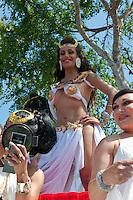 Scantily Clad Female, Smiling, at me, LA Pride 2010 West Hollywood, CA Parade