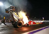 Apr 21, 2017; Baytown, TX, USA; NHRA top fuel driver Doug Kalitta during qualifying for the Springnationals at Royal Purple Raceway. Mandatory Credit: Mark J. Rebilas-USA TODAY Sports