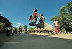 Children skip rope in the Makpandu refugee camp in Southern Sudan, 44 km north of Yambio, where more that 4,000 people took refuge in late 2008 when the Lord's Resistance Army attacked their communities inside the Democratic Republic of the Congo. Attacks by the LRA inside Southern Sudan and in the neighboring DRC and Central African Republic have displaced tens of thousands of people, and many worry the attacks will increase as the government in Khartoum uses the LRA to destabilize Southern Sudan, where people are scheduled to vote on independence in January 2011. Catholic pastoral workers have accompanied the people of this camp from the beginning.