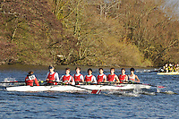 054 .KGS-Mallett .J18A.8+ .Kingston G Sch . Wallingford Head of the River. Sunday 27 November 2011. 4250 metres upstream on the Thames from Moulsford railway bridge to Oxford Universitiy's Fleming Boathouse in Wallingford. Event run by Wallingford Rowing Club..