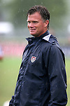 Greg Ryan, U.S. head coach, on Sunday June 26th, 2005, during an international friendly soccer match at Virginia Beach Sportsplex in Virginia Beach, Virginia. The United States won the game 2-0.