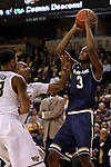 24 February 2016: Notre Dame's V.J. Beachem (3). The Wake Forest University Demon Deacons hosted the University of Notre Dame Fighting Irish at Lawrence Joel Veterans Memorial Coliseum in Winston-Salem, North Carolina in a 2015-16 NCAA Division I Men's Basketball game. Notre Dame won the game 69-58.