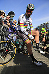 World Champion Peter Sagan (SVK) Bora-Hansgrohe waits for the start of Gent-Wevelgem in Flanders Fields 2017, running 249km from Denieze to Wevelgem, Flanders, Belgium. 26th March 2017.<br /> Picture: Eoin Clarke | Cyclefile<br /> <br /> <br /> All photos usage must carry mandatory copyright credit (&copy; Cyclefile | Eoin Clarke)