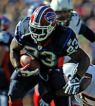 19 October 2008:  Buffalo Bills' running back Marshawn Lynch gains 6 yards in the second quarter against the San Diego Chargers at Ralph Wilson Stadium in Orchard Park, NY. The Bills defeated the Chargers 23-14 and maintain their first place position in the AFC East with a 5 and 1 record...Mandatory Photo Credit: Ed Wolfstein Photo