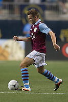 Andreas Weimann of Aston Villa during a match between Aston Villa FC and Philadelphia Union at PPL Park in Chester, Pennsylvania, USA on Wednesday July 18, 2012. (photo - Mat Boyle)