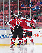 - The Northeastern University Huskies defeated the University of Massachusetts Lowell River Hawks 4-1 (EN) on Saturday, January 11, 2014, at Fenway Park in Boston, Massachusetts.