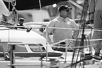 Valium skipper Gary Kirkland-Smith at the Wellington restart of Round North Island two-handed yacht race. Wellington, New Zealand. 2 March 2011. Photo: Gareth Cooke/Subzero Images
