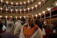 Roma 18 Novembre 2011.Teatro Valle Occupato da  lavoratrici e lavoratori dello spettacolo dal 14 Giugno 2011..Serata  Riprendiamoci i muri. il Valle Occupato veste street..