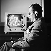 Jacob Malik, Soviet Ambassador to the United Nations, UN Security Council Meeting, 1951. CREDIT: JOHN G. ZIMMERMAN