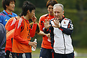 (L to R) Kengo Nakamura (JPN),  Albert Zaccheroni Head Coach (JPN), April 25, 2012 - Football / Soccer : Japan National Team Training Camp at Akitsu Park football Stadium, Chiba, Japan. (Photo by Yusuke Nakanishi/AFLO SPORT) [1090]