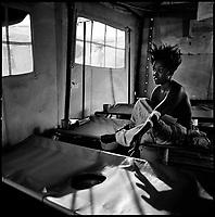 Luanda, Angola, May 19, 2006.Rosa, 28, from Kazenda slum, is a patient at the Boa Vista MSF Belgium operated cholera field clinic. Between February and June 2006, more than 30000 people were infected with cholera in Angola's worse outbreak ever; more than 1300 died.