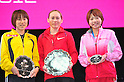 (L to R) Yoshimi Ozaki (JPN), Mayorova Albina (RUS), Remi Nakazato (JPN),.MARCH 11, 2011 - Marathon : Nagoya Women's Marathon 2012 Start &amp; Goal at Nagoya Dome, Aichi, Japan. (Photo by Jun Tsukida/AFLO SPORT)[0003].