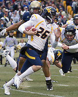 November 28, 2008. WVU wide receiver Carmen Connolly (26). The Pitt Panthers defeated the West Virginia Mountaineers 19-15 on November 28, 2008 at Heinz Field, Pittsburgh, Pennsylvania.