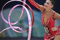 September 10, 2009; Mie, Japan;  Irina Risenson of Israel is closeup with ribbon at 2009 World Championships Mie.  Photo by Tom Theobald